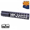 AIR LITE KEYMOD FREE FLOATING HANDGUARD WITH MONOLITHIC TOP RAIL